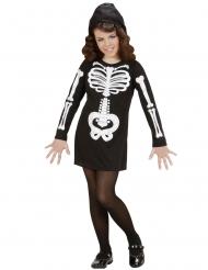 Disfraz esqueleto glamur niña
