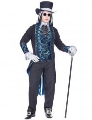 Disfraz vampiro victoriano azul hombre