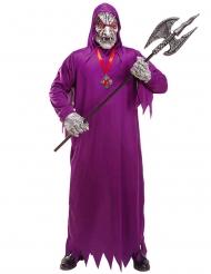 Disfraz zombie de la muerte morado adulto