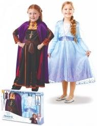 Disfraz Elsa y Anna Frozen 2™ en caja niña
