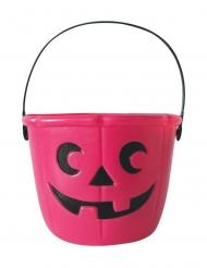 Cubo para caramelos rosa 17 cm