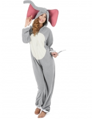 Disfraz elefante gris mujer
