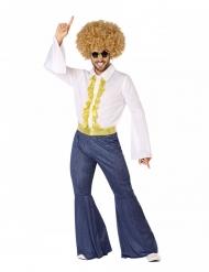 Disfraz disco efecto vaquero y dorado hombre