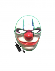 Máscara LED lujo payaso maligno adulto