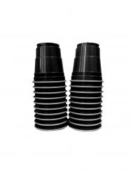 20 Vasos chupito americanos negros 4 cl