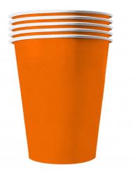 20 Vasos americanos cartón reciclable naranja 53 cl