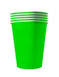 20 Vasos americanos cartón reciclable verde 53 cl