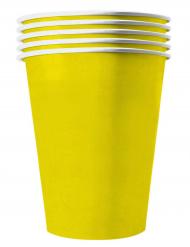 20 Vasos americanos de cartón reciclable amarillo 53 cl