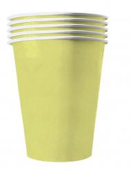 20 Vasos americanos cartón reciclable amarillo pastel 53 cl
