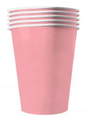 20 Vasos americanos cartón reciclable rosa pastel 53 cl