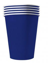 20 Vasos americanos de cartón reciclable azul 25 cl