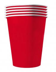 20 Vasos americanos cartón reciclable rojos 25 cl