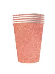 1 0Vasos americanos brillantes cartón reciclable rose gold 53 cl