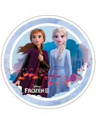 Disco oblea Frozen 2™ Anna y Elsa 21 cm