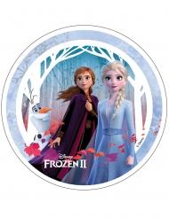 Disco oblea Frozen 2™ Anna, Elsa y Olaf 21 cm