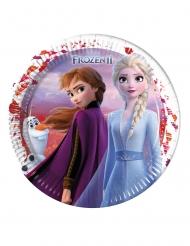 8 Platos grandes de cartón Frozen 2™