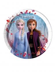 8 Platos pequeños de cartón Frozen 2™ 20 cm