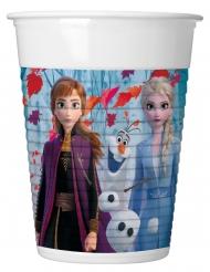 8 Vasos de plástico Frozen 2™ 200 ml