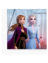 20 Servilletas de papel Frozen 2™ 33 x 33 cm