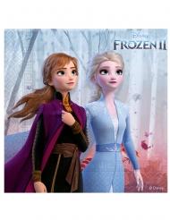 16 Servilletas de papel Frozen 2™ 25 x 25 cm