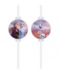 4 Pajitas medallón de cartón Frozen 2™
