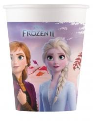 8 Vasos de cartón compostable Frozen 2™ 200 ml