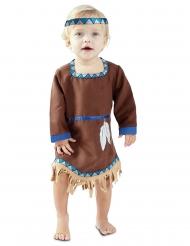 Disfraz vestido pequeña india bebé