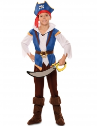 Disfraz pirata aventura azul niño