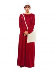 Disfraz con bolso sirviente rojo escarlata mujer