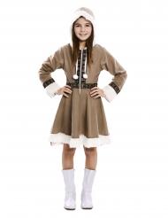 Disfraz vestido esquimal niña