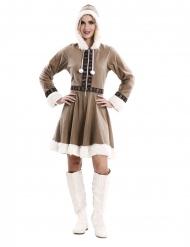 Disfraz vestido esquimal mujer