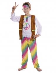 Disfraz hippie arcoíris niño