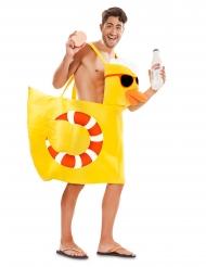 Disfraz de pato de bañera adulto