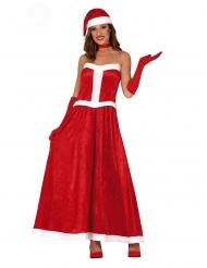 Disfraz vestido Mamá Noel mujer
