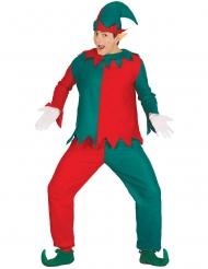Disfraz de elfo travieso adulto