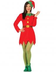 Disfraz Miss elfo de Navidad mujer