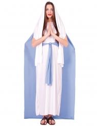 Disfraz Virgen María con capa mujer