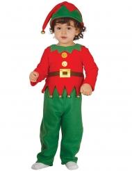 Disfraz clásico elfo de Navidad bebé