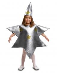 Disfraz estrella plateada niño