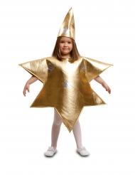 Disfraz de estrella dorada niño