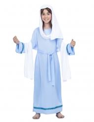 Disfraz Virgen María azul niña