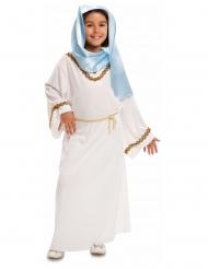 Disfraz Virgen María blanco y azul niña