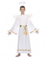 Disfraz ángel blanco cinturón dorado niño