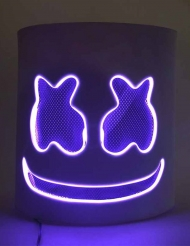 Máscara DJ Nube LED morado adulto