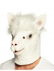 Máscara integral de látex llama blanco adulto