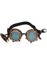 Gafas con luz frontal steampunk adulto