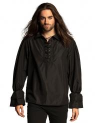 Camisa pirata negra hombre