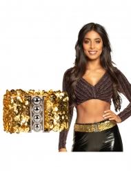 Cinturón con lentejuelas doradas adulto