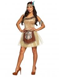 Disfraz de india brillante mujer