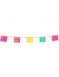 Guirlanda de plástico fiesta mexicana multicolor 6 metros